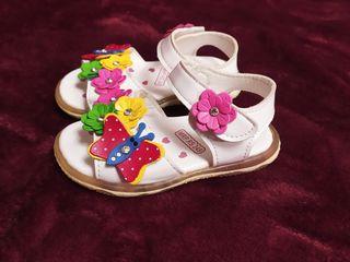 Нарядные сандалии на девочку, длина стельки 14-14,5см