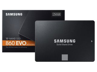 """2.5"""" SSD 250GB Samsung SSD 860 EVO, SATAIII, Sequential Reads: 550 MB/s, Sequential Writes: 520 MB/s"""
