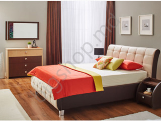 Dormitor Ambianta Samba Beige 1600 mm în credit