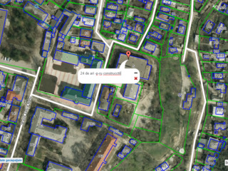 24 de ari p-ru constructie in centrului or. Orhei in spatele Consiliului Raional