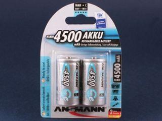 Аккумулятор ansmann max e r14, 1.2 в, 4500 мач, nimh bl2, предзаряженный