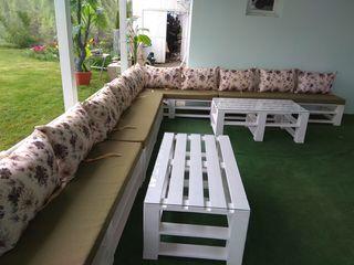 paturi din lemn natural stil loft!