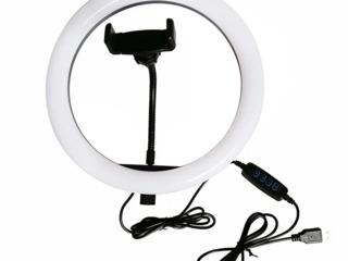 Кольцевая led лампа ring fill light lc-330 диаметр 33см, питание usb,/lampa inelara 33cm