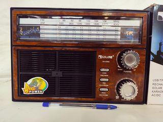 Radiola cu panou solar Golon RX-636S cu livrare gratuita la domiciliu
