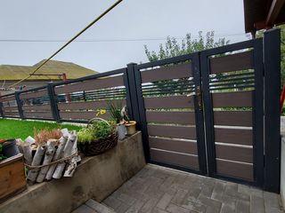 Porti, garduri, fațade, terase, balustrade din profile WPC Decking (террасная доска) Декинг Терассна