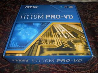 MSI H110M-PRO-VD сокет LGA1151 память ддр-4