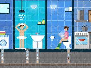 """WC, bucătărie, baie. Tehnologia """"Ecologic"""""""