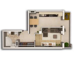 Spre vinzare Apartament cu o camera, situat in centru com.Stauceni. Preț 25 500 euro. 42 mp.