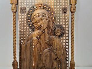 резная ореховая*Богородица Отрады и Утишение*эксклюзив