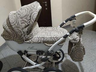 ОЧЕНЬ ЛЁГКАЯ! Вездеход! Шикарная колясочка Anmar Ellina Alu 2 в 1 весь материал шитьё!