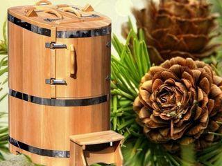Fito-barel ( mini-sauna) cu generator de abur