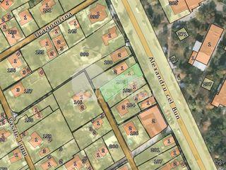 Teren pentru construcții, 5 ari, centrul orașului Ialoveni, 54000 €