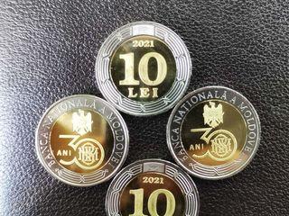 10 lei — 30 de ani de la înființarea Băncii Naționale a Moldovei R.Moldova 2021 MC