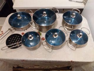 Продаётся хороший набор посуды Vitezze France за 1200 лей.Могу уступить!