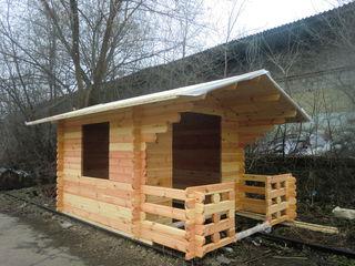 Деревянные  дома   из  мини  бруса