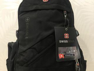 Рюкзак Swissgear модель 8810 чисто черный и черный с синими вставками на 29 литров - 450 лей (новый)