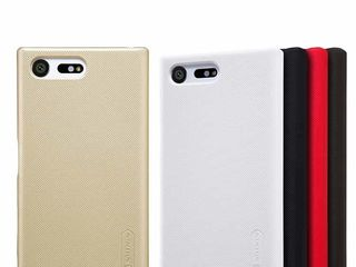 Sony Xperia X Compact чехол Nillkin Frosted Shield + защитная плёнка