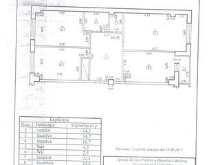 Apartament cu trei odăi spre vînzare