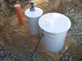 Ministatie de epurare 4-5 persoane + cadou rezervor stocare 600 litri apa.