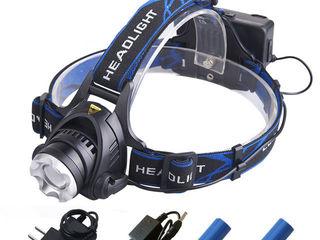 Мощный налобный фонарь Headlight 2000 люмен