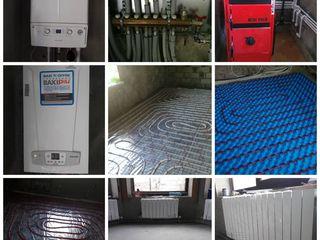 Instalam:podea calda,cazane,cazangerii,radiatoare etc.Santehnic.Instalator.Sisteme de incalzire.
