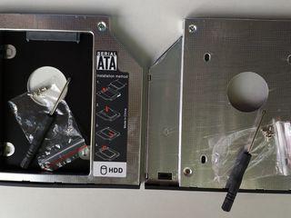 Адаптер OptiBay HDD Caddy Sata to Sata 12,7 - 9.5mm. Кабель-адаптер USB to DVDrom mini SATA.