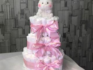 Торт из памперсов / Torta din scutece!