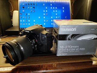Canon 700D Body + Tamron 18-270mm f/3.5-6.3 VC PZD Di II