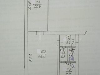 8000$ Двухкомнатная квартира 40 м2, 2 эт. /2, ул. Ленина дом45.