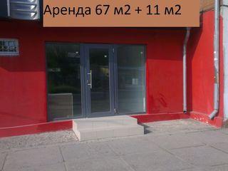 Помещение под торговлю со складом. 67 М2. Первая линия.