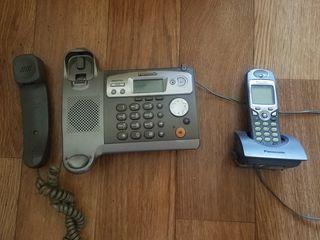 Домашний телефон и беспородная трубка