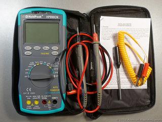 Цифровые мультиметры HoldPeak HP-890CN (True RMS). Щупы для мультиметров 1000В/20А.