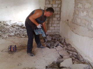 Снимаем стяжку, штукатурку, демонтаж ванных комнат+вывоз мусора!