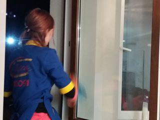 Servicii de curatenie apartamente,case,oficii/  Spalarea geamurilor si fatadei/ Curatare chimica cov