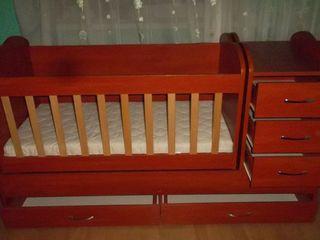 Детская кроватка трансформер (0 - 14 лет). В подарок: ортопедический матрас.