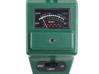 3-в-1 Влагомер почвы + кислотность PH + измерение освещенности