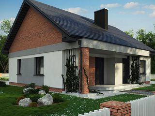 новый тёплый дом с тремя спальнями и большой гостиной-кухней