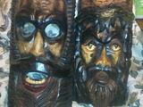Маски из дерева Румынского мастера из Брашова.