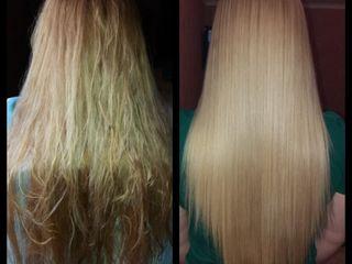 Выпрямления и лечения волос кератином