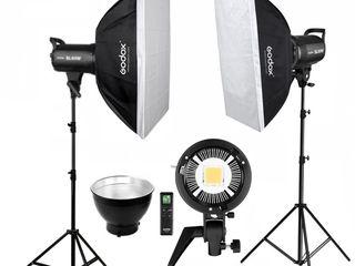 Godox SL60W. Постоянный студийный свет с софтбоксами, 2 комплекта.