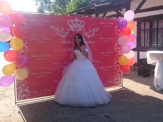 Fotostand, foto baner, panouri pentru nunta, panouri pentru cumatrii, decor cu baloane, fotopanou