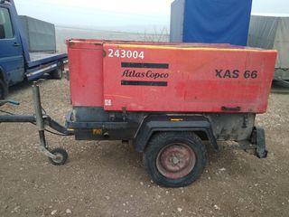 Vind compressor disel, remorcabil. Atlas Copco XAS 66.