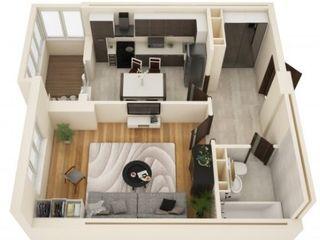 1-комнатная квартира, 43м2 этаж 3 из 10 новостори, сдан в эксплоатацию с ремонтом под ключ! 34200€