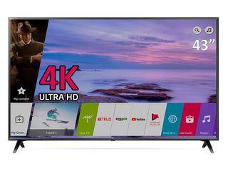 LG Nou 43UK6300 4k-UHD Smart Wi-Fi Bluetooth Ips-direct Led garantie 2 ani