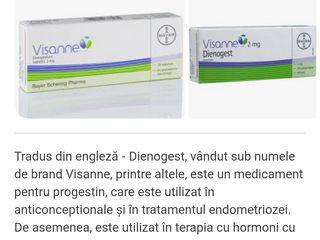 Visanne (Dienogest) 2mg comp., 1 cutie sigilată.