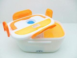 Ланч бокс Контейнер для еды с подогревом, оранжевый