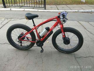 Bicicleta Electrica Электровелосипед Fatbike  2х2
