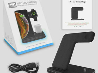 Qi 3 in 1 Wireless Charger Dock Charging Station