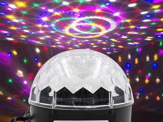 Светодиодный диско-шар с пультом и bluetoot