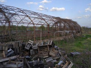 Земельный участок с теплицей и домиком